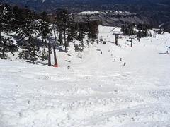 雪もまずまず。スカイコースからの滑りを堪能しました。