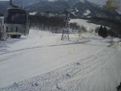20110223赤倉観光、赤倉温泉 13時スタート コースは少し荒れ気味でした
