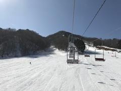 リフトが二箇所あるが離れた場所にあり車で移動が面倒。春スキーのようなゲレンデでした。