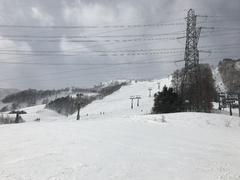晴〜薄曇り 雪の予報で早朝は雪だったが、滑る頃には晴れ間も見えるまずまずの天気。 気温も低く雪も締まっていて、絶好のスキー日和に。 ただ風はかなり強く、一時ゴンドラが運転見合わせになっていた。  リフト待ちも最大で数分程度、初級コースは人が多かったが、第8高速リフトは待ちもなく、コースも空いていて快適にすべることができた。  きょうは娘のレッスルの付き添いがメインだったが、外足加重とポジショニングを意識して繰り返し滑り、いい練習になった。