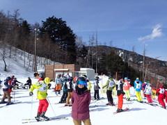 スキーショップコラボの試乗会参加。バッジテストを行っていた。