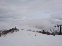 やっと春スキー。
