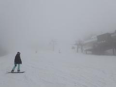 新雪の感触がこの時期で味わえた♪ 踏むとギュギュっと鳴る雪質で、最高っ!!