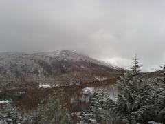 小雪?小雨? ガスがかかった曇り空スタートでしたが、午後からは晴れてスッキリ。 気持ちも明るくなりました。