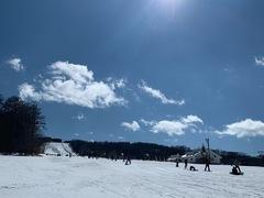 今季、2度目のハンタマ。 今日はスキースクールに入る。